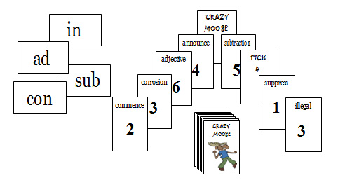 CM27 Crazy Moose: Assimilated Prefixes 1 (com, ad, sub, in)