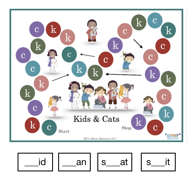 SP1 Kids & Cats (initial/Medial c & k)
