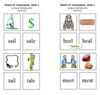 Match It: Homonyms: Long a Deck & Long e Deck