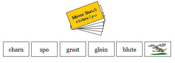 Moose!!! 6 Syllable Types (nonsense words)