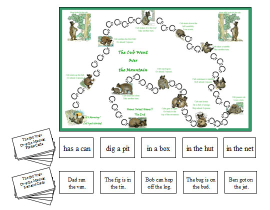 Phrase & Sentence Game: The Cub Went Over the Mountain