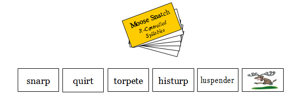 M5 Moose!!! R-Controlled Syllable Deck: 1, 2 & 3 Syllable